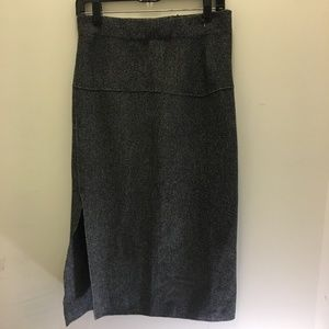 Zara Knit Pencil High Waist Midi Skirt L  NWT